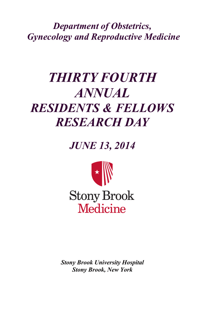 RRD Program 2014 - Stony Brook University School of Medicine