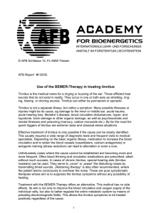 Use of the BEMER-Therapy in treating tinnitus