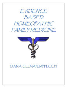 HOMEOPATHIC FAMILY MEDICINE - Homeopathic Educational