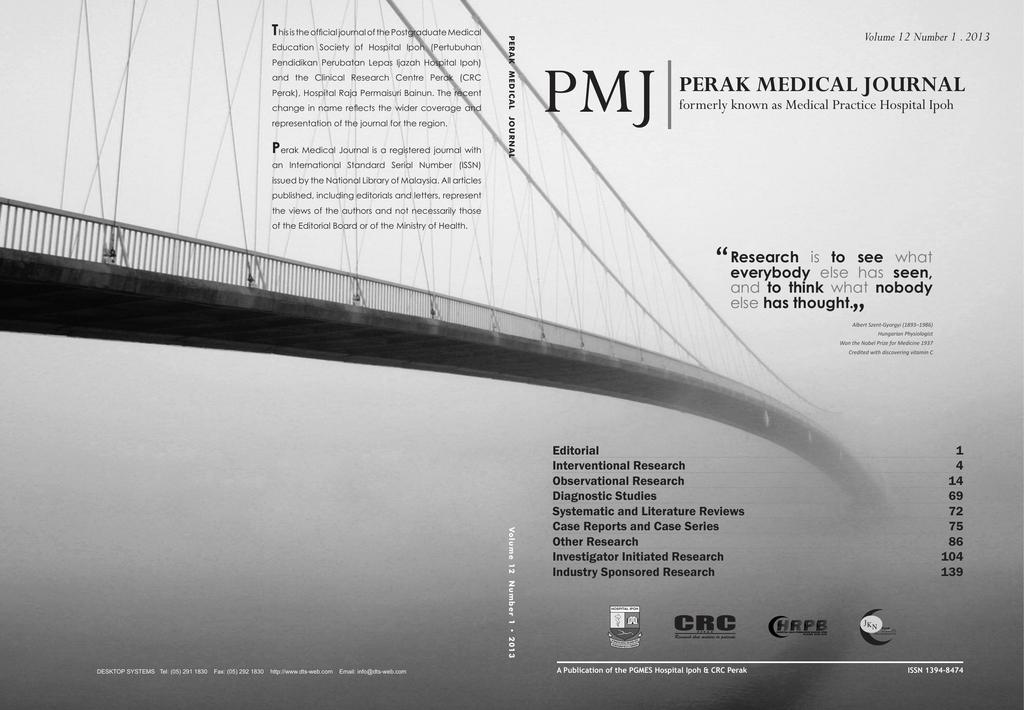Perak Medical Journal 2013