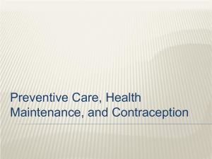 Preventive Care, Health Maintenance, and - kusm