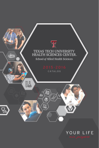 2015-2016 Catalog - Texas Tech University Health Sciences Center