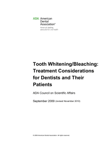 Tooth Whitening/Bleaching - American Dental Association