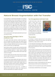 Natural Breast Augmentation with Fat Transfer