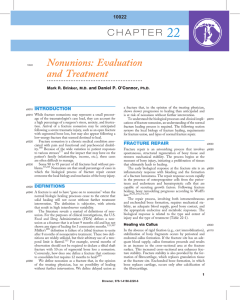 Nonunions: Evaluation and Treatment