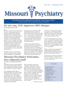 Third Quarter - 2012 - Missouri Psychiatric Association