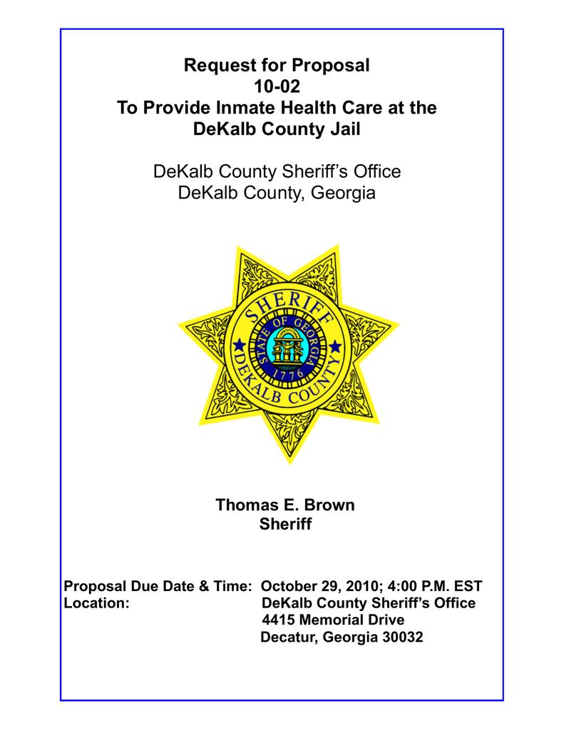 RFP 10 02-Final(1) - DeKalb County Sheriff Office