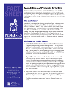 Foundations of Pediatric Orthotics - Academy of Pediatric Physical