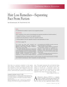 Hair Loss Remedies—Separating Fact From Fiction