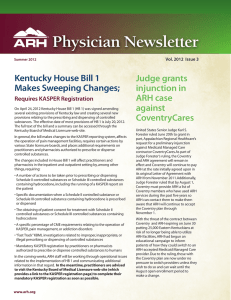 Physician Newsletter - Appalachian Regional Healthcare