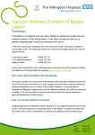 Vacuum Assisted Excision of Breast Lesion