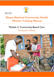 Ghana National Community Health Worker Training Manual Module 2