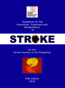 ssp guidelines 1 - Stroke Society of the Philippines