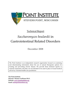 Saccharomyces boulardii in Gastrointestinal Related