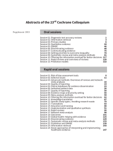 Abstracts of the 23rd Cochrane Colloquium