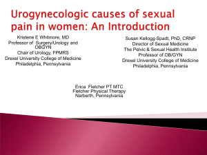 Handout - Kristene Whitmore - International Urogynecological