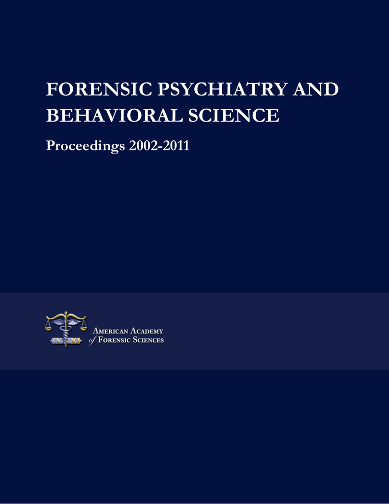 forensic psychiatry and behavioral science