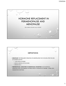 hormone replacement in perimenopause and menopause