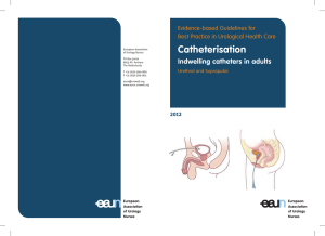 Catheterisation - indwelling catheters in adults