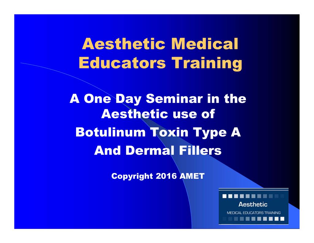 Aesthetic Medical Educators Training