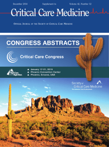 congress abstracts - Society of Critical Care Medicine