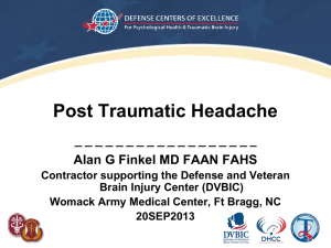 Finkel Presentation - North American Brain Injury Society