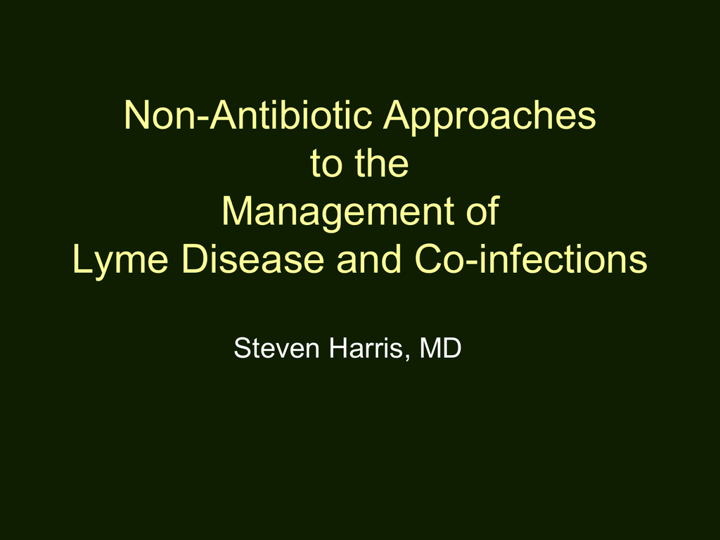 Non-Antibiotic Approaches to the Management of Lyme