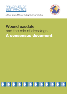 Wound exudate and the role of dressings - A
