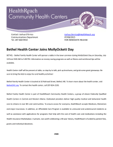 Bethel Health Center Joins MollyOckett Day