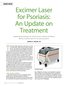 Excimer Laser for Psoriasis: An Update on Treatment