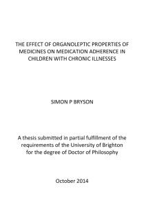 the effect of organoleptic properties of medicines on medication