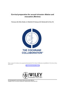 Cervical preparation for second trimester dilation and - Dilapan-S