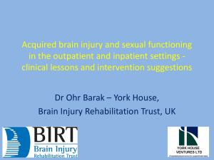 Acquired brain injury and sexual functioning in the
