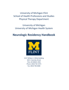 Neurologic Residency Handbook - University of Michigan