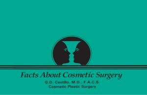 Patient Brochure - Cosmetic Plastic Surgery