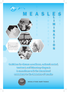 Measles Elimination in Thailand - World Health Organization, South