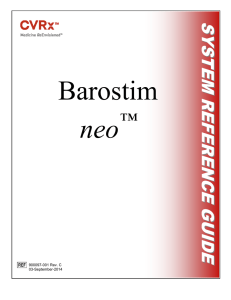 Barostim Neo Heart Failure and Hypertension System