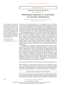 Physiological Approach to Assessment of Acid–Base Disturbances
