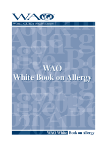 WAO White Book on Allergy WAO White Book on Allergy
