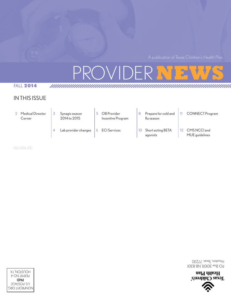 Provider News Texas Children S Health Plan
