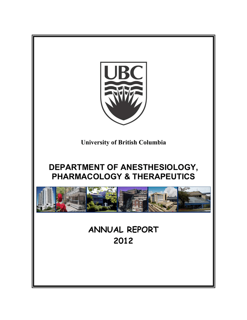 DEPARTMENT OF ANESTHESIOLOGY, PHARMACOLOGY