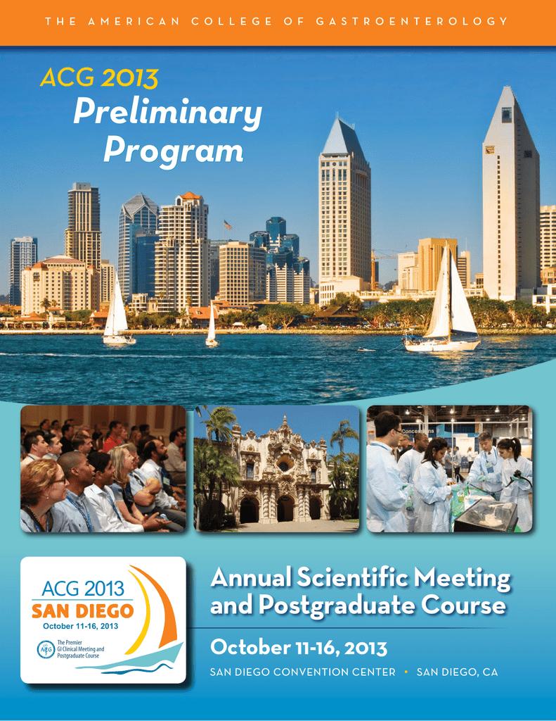 Preliminary Program - ACG - American College of Gastroenterology