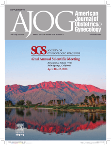 Abstracts - Society of Gynecologic Surgeons