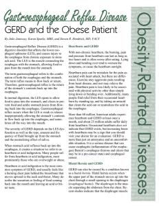 GERD and the Obese Patient