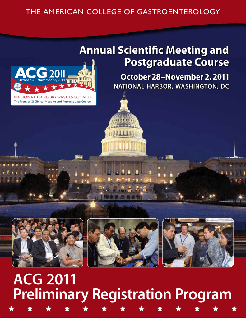 acg 2011 Preliminary Registration Program