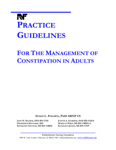 Practice Guidelines for the Management