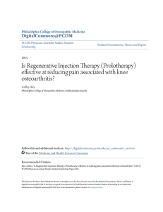 Is Regenerative Injection Therapy (Prolotherapy)