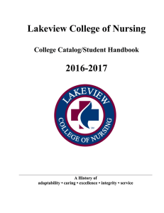Lakeview College of Nursing 2016-2017