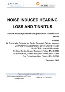 noise induced hearing loss and tinnitus