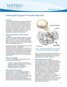 Suboccipital Surgery for Acoustic Neuroma